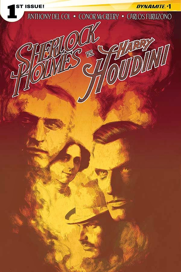 Sherlock Holmes vs. Harry Houdin cover 1 - Campbell - Dynamite Comics
