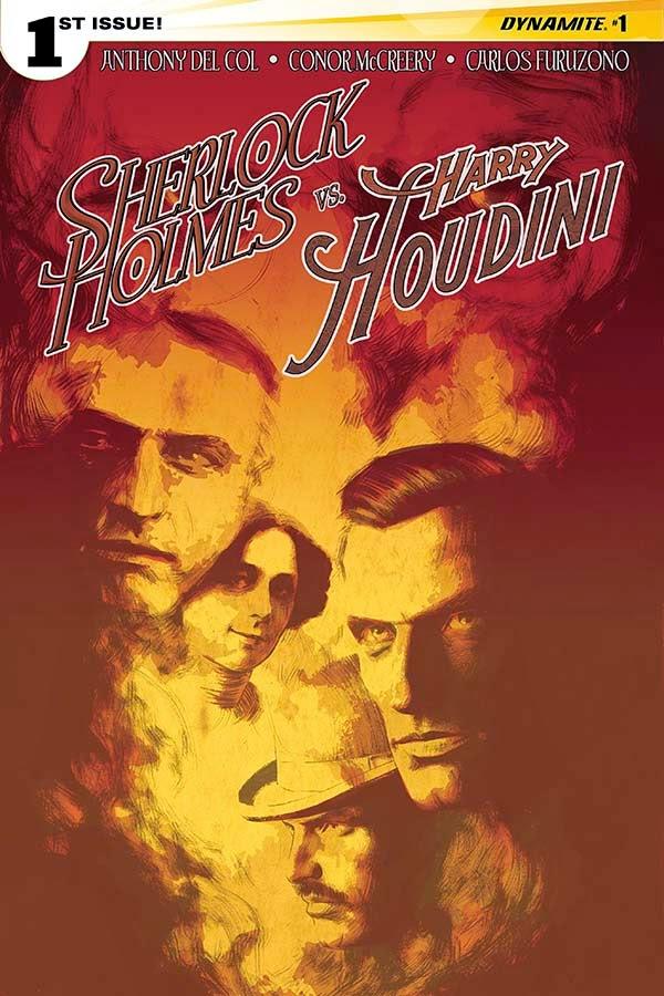 Sherlock Holmes vs. Harry Houdin cover 1 - Campbell - Dynamite Comics