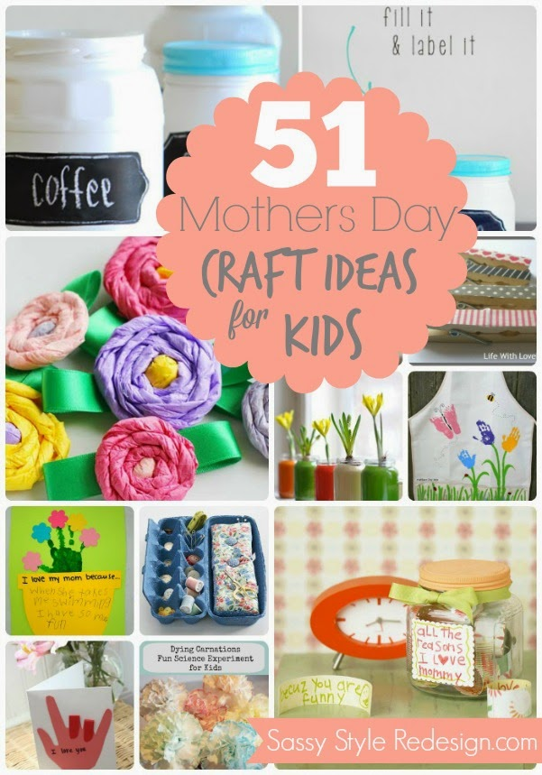 Great ideas 21 mother 39 s day gift ideas sewing for Mothers day craft ideas kids
