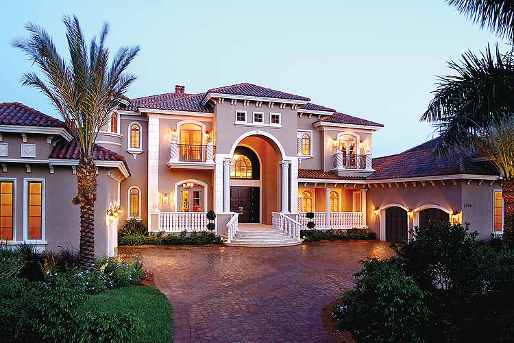 Front elevation picture luxury homes