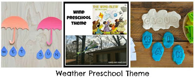 activities for kid, weather preschool theme, image