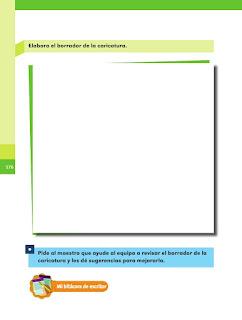 Apoyo Primaria Español 2do grado Bloque 4 lección 11 Caricaturas de los disparates