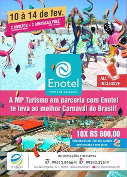 Carnaval 2018 é no Enotel em Porto de Galinhas.