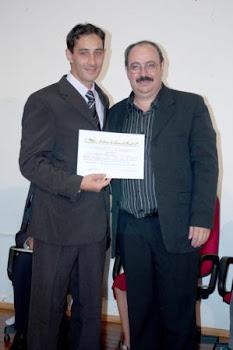 Poeta Catarinense Ramiro Vieira Neto - Diplomação com o presidente da ALB SC Professor Miguel João