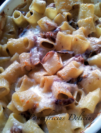 Pasta al forno con radicchio di Treviso, Mazzancolle, noci ...
