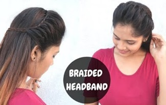 How to: Easy Trick To Make A Braided Headband | Headband Hairstyle | open hair hairstyle