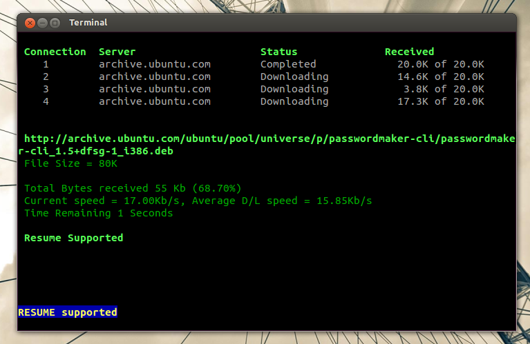 Ubuntu resume builder