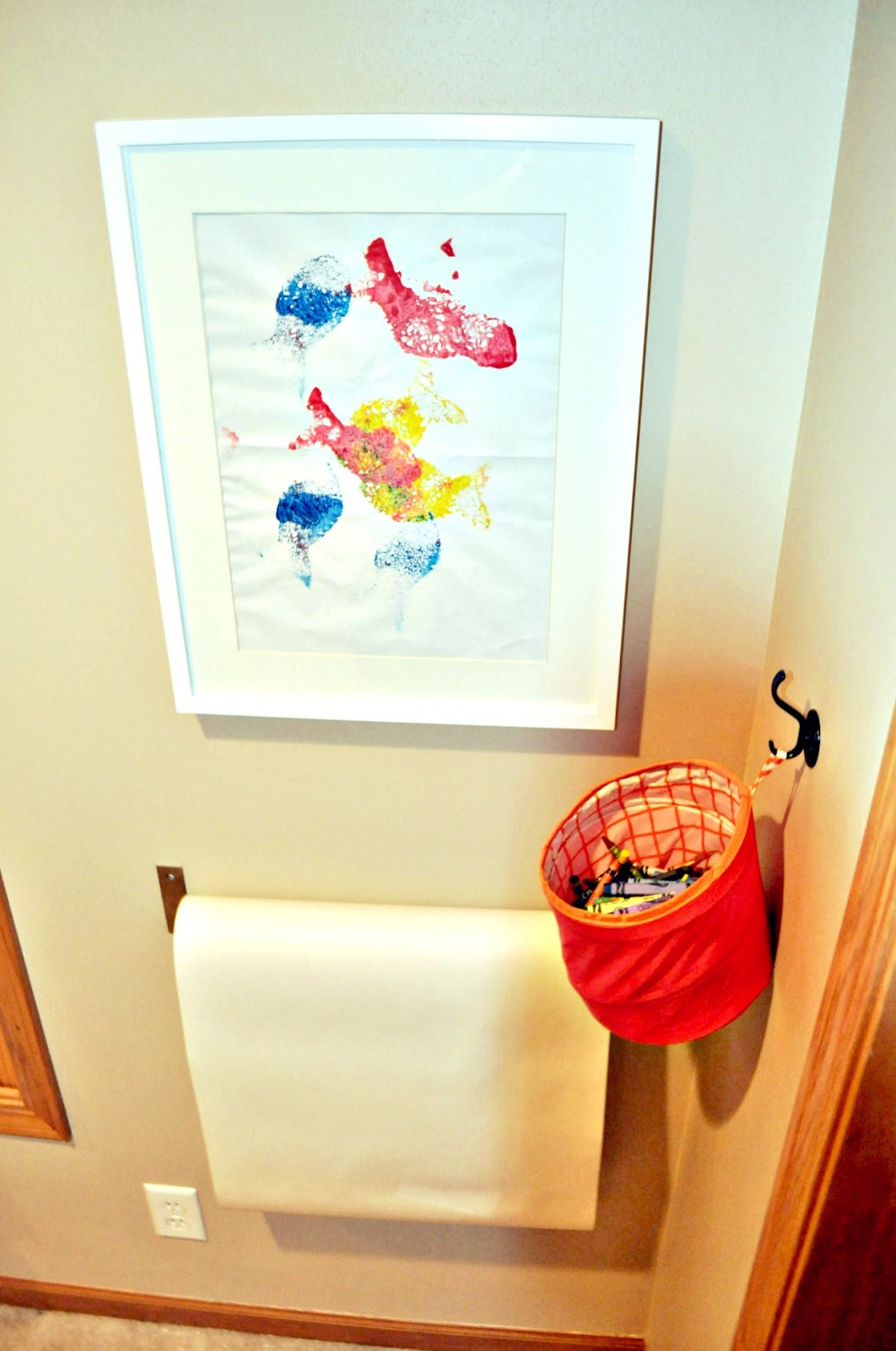 Always Chasing Life: Playroom Art Station