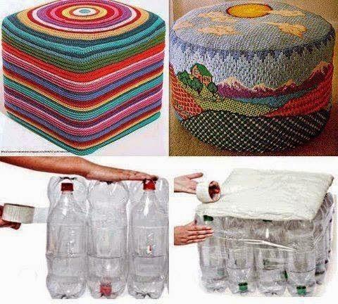 Φτιάξε ένα σκαμπώ απο πλαστικά μπουκάλια