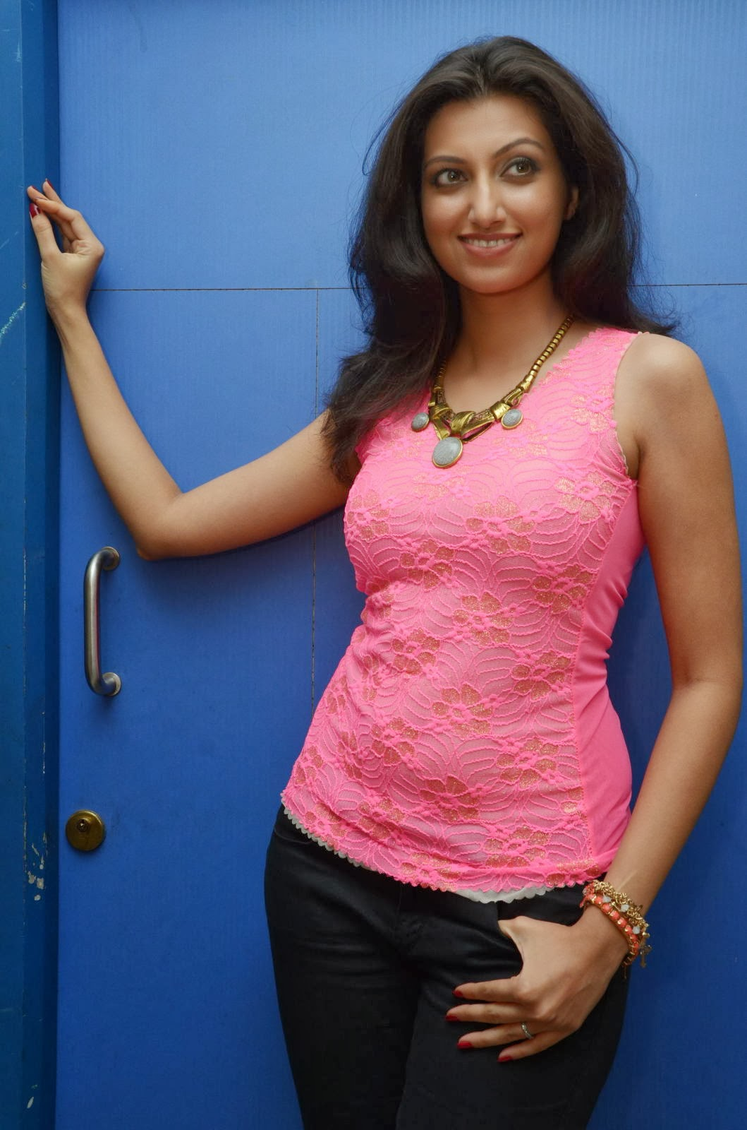 Sexy and curvy Hamsa nandini latest photo gallery in pink top Bollywood, Tollywood, loving, sparkling, hot sexy actress image gallery