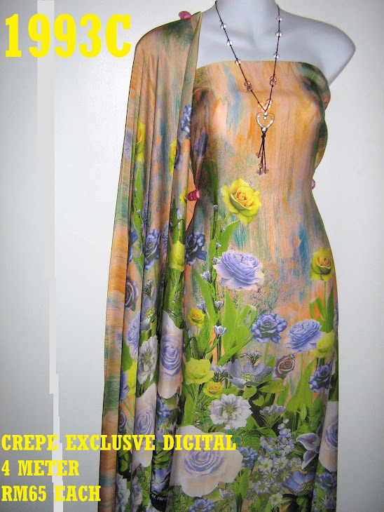 CP 1993C: CREPE EXCLUSIVE DIGITAL PRINTED, 4 METER