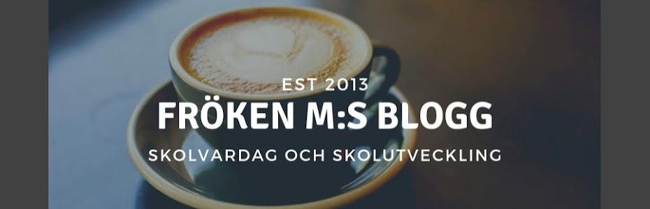 Fröken M:s blogg