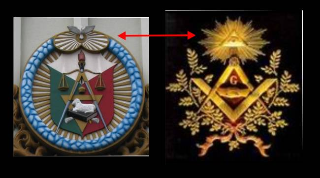 Left the iglesia ni cristo church of christ seal and the