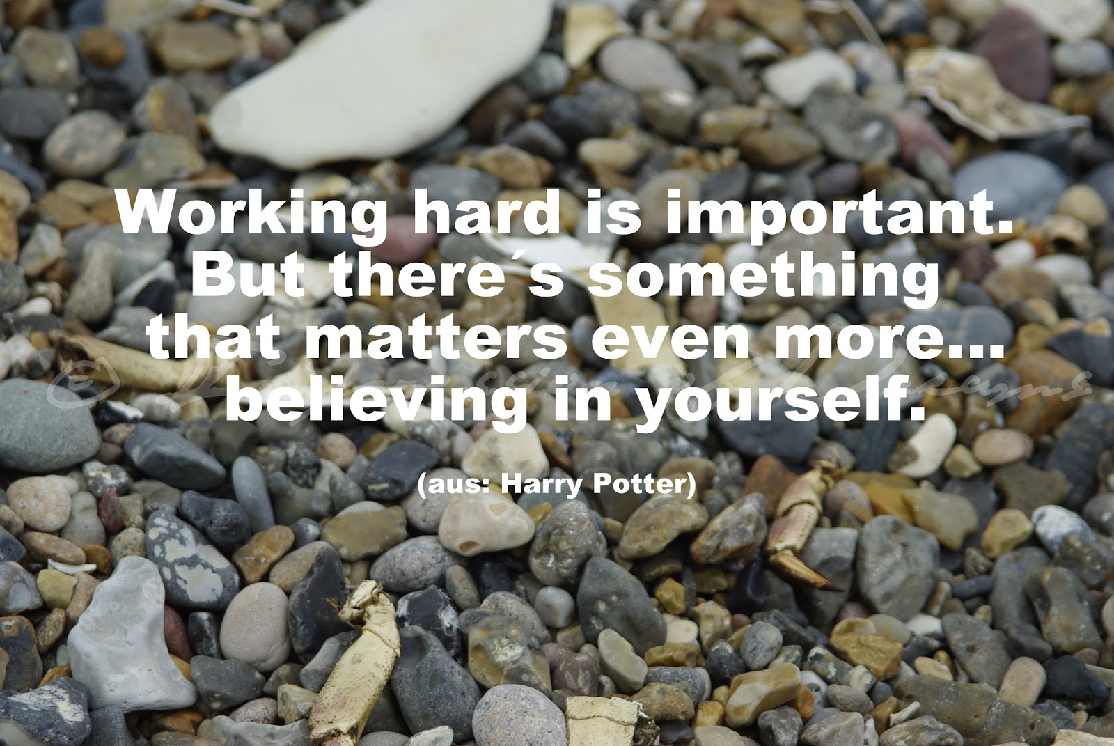 Working hard is important. But there´s something that matters even more... believing in yourself.