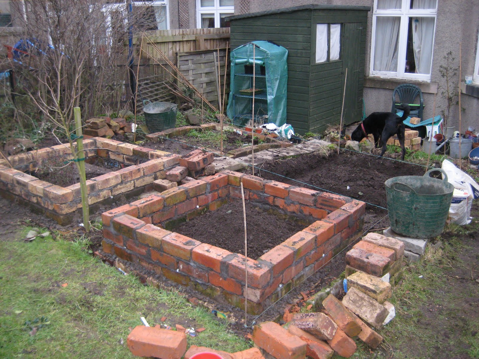 mal s allotment brick raised beds update