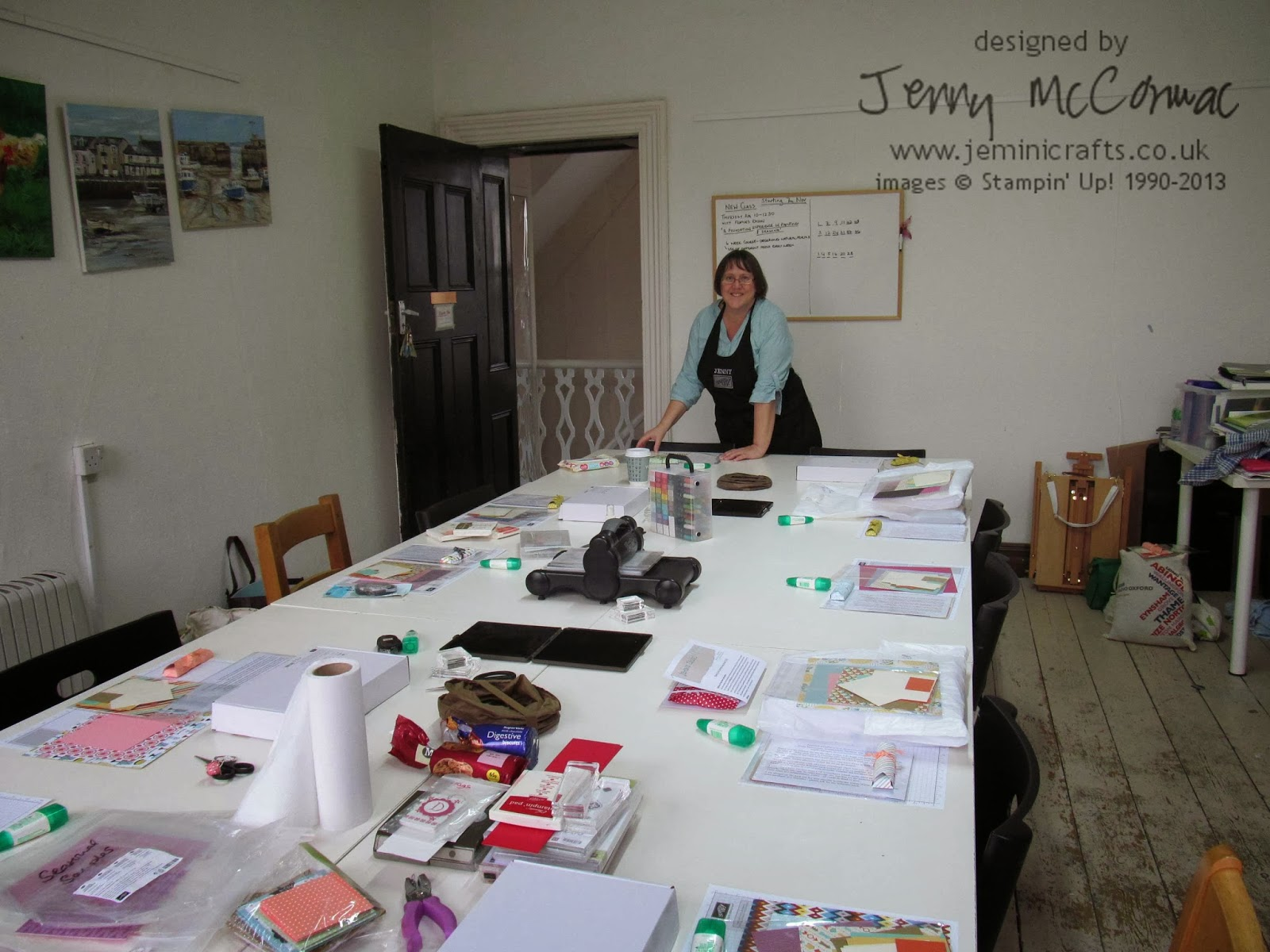 Card Class at Brackley. Stampin' Up! Jemini Crafts