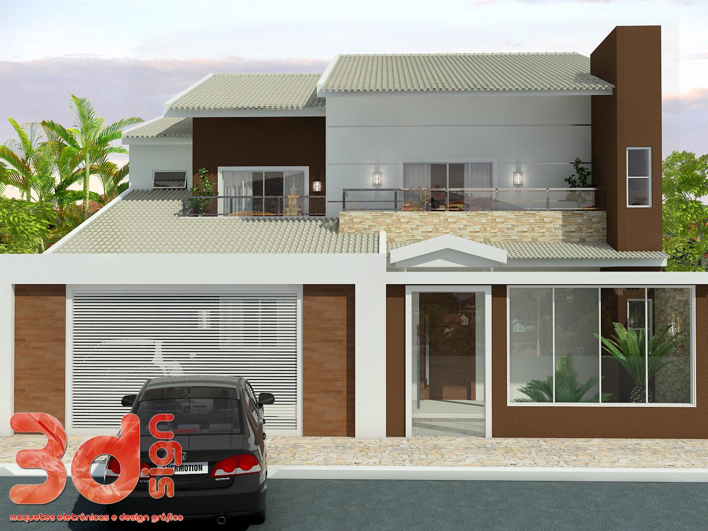 3dsign fachada casa - Fachada de casas ...