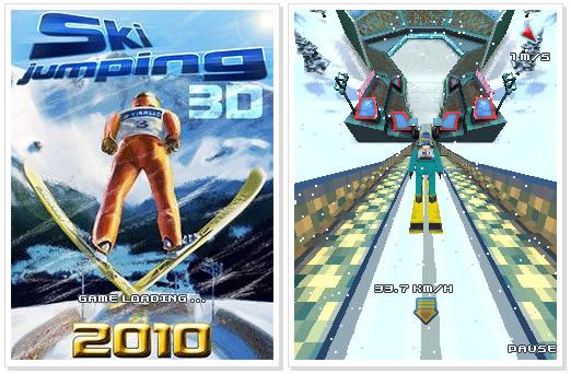 Nokia C3 Game : Ski Jumping 3D 2010