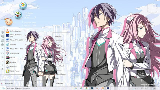 Theme Windows 8.1 and 10 Gakusen Toshi Asterisk By Bashkara