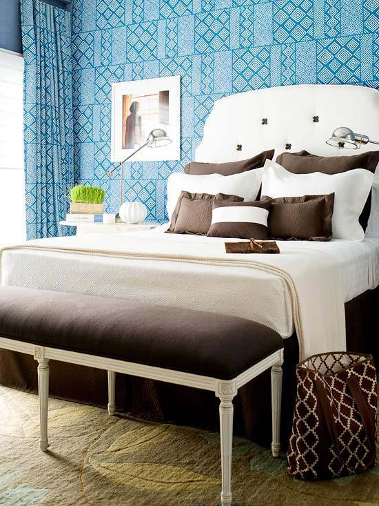 Dormitorios azules dormitorios con estilo for Light blue and white bedroom ideas