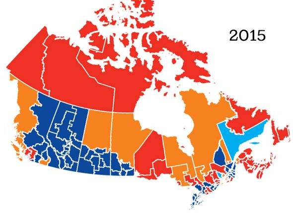 Federal Election Canada 2015.. divided and conquered..