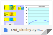 http://milf.fizyka.pw.edu.pl/konkursefizyka/rzut_ukosny-symulacja.xlsm