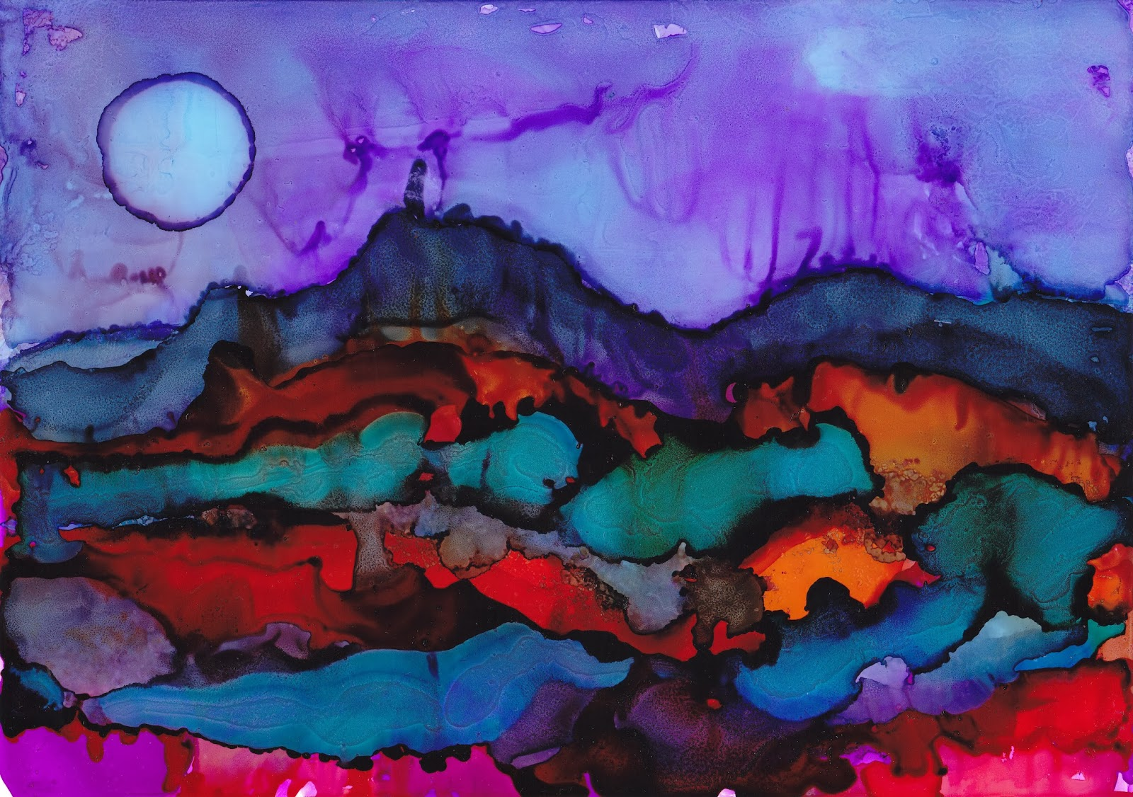 Alcohol Ink Paintings For Sale