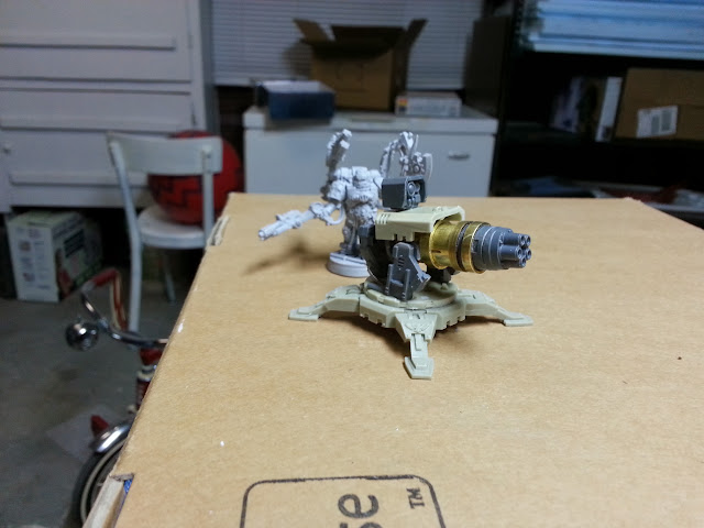 Scratch built thunderfire cannon conversion right profile wip