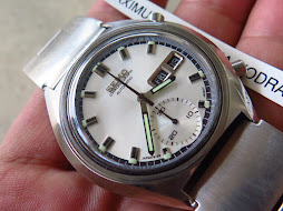 SEIKO CHRONOGRAPH WHITE SILVER DIAL - SEMI RETRO CASE - AUTOMATIC 6139