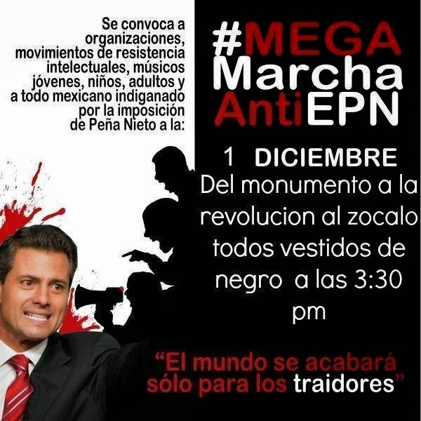 LA MARCHA DEL MONUMENTO  LA REVOLUCIÓN AL ZÓCALO, ESTE EVENTO INICIARA A LAS 3:30 DE LA TARDE.