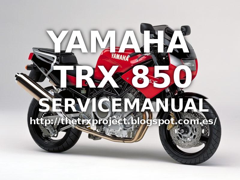 the trx project the yamaha trx 850 blog yamaha trx 850 service manual rh thetrxproject blogspot com yamaha tdm 850 3vd service manual free download yamaha tdm 850 workshop manual free download
