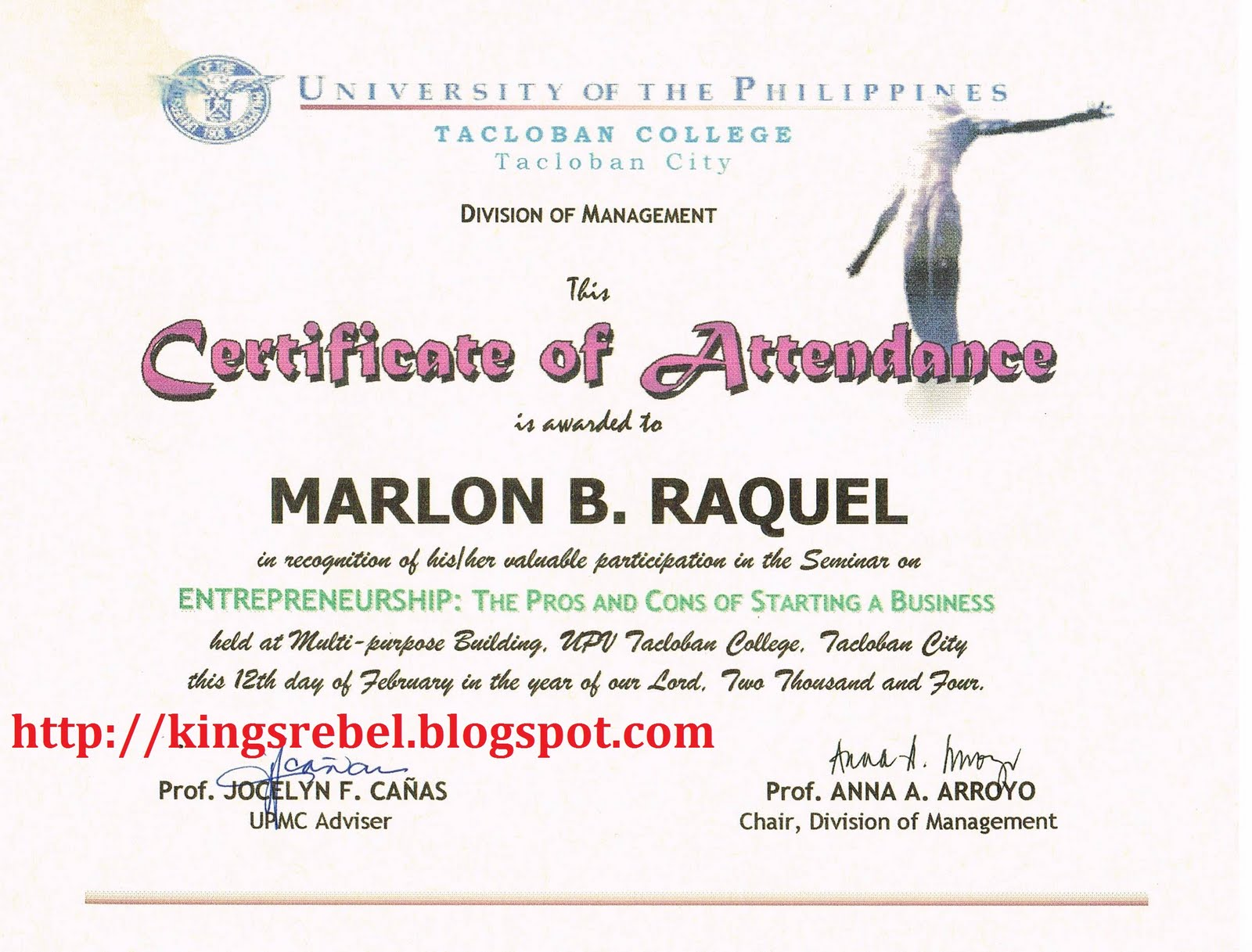 certificate for attending seminar  Tidbits and Bytes: Example of Certificate of Attendance - Seminar ...