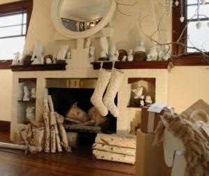 decoración chimenea navidad