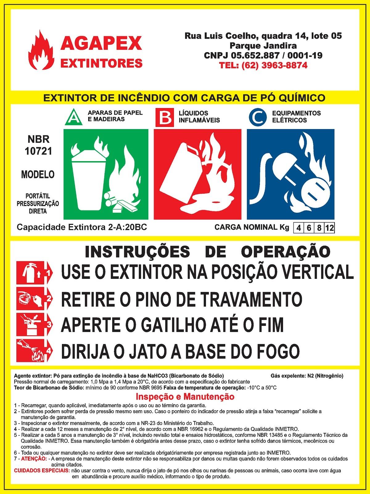 Adesivo Demarcação De Solo Extintor ~ LL Design Gráfico Adesivo Extintor de Inc u00eandio