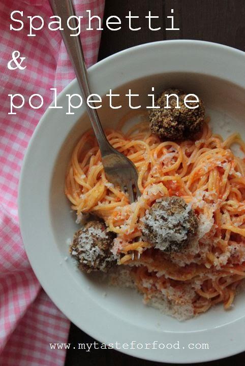 spaghetti & polpettine di carne - spaghetti with meatballs