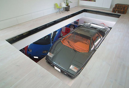 Architecture school tips residential car lift 9 car garage for Residential garage car lift