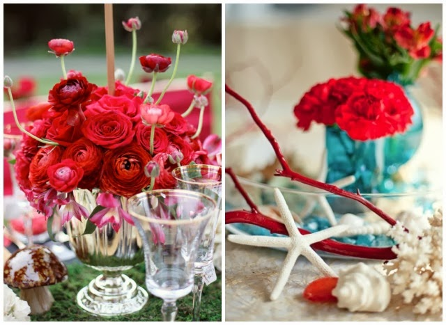 wedding decoration in red inspiration bodas en color rojo inspiración ideas