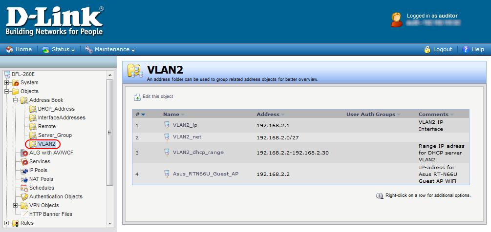 Как сделать два dhcp сервера на dfl260