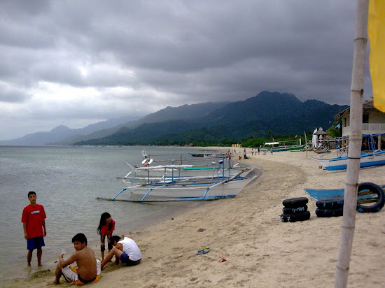 The beach of Laiya Aplaya