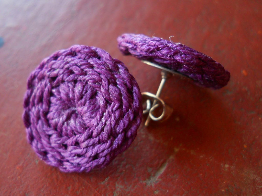 Continuing with Crochet Stud Earrings | Moira Crochets Thread