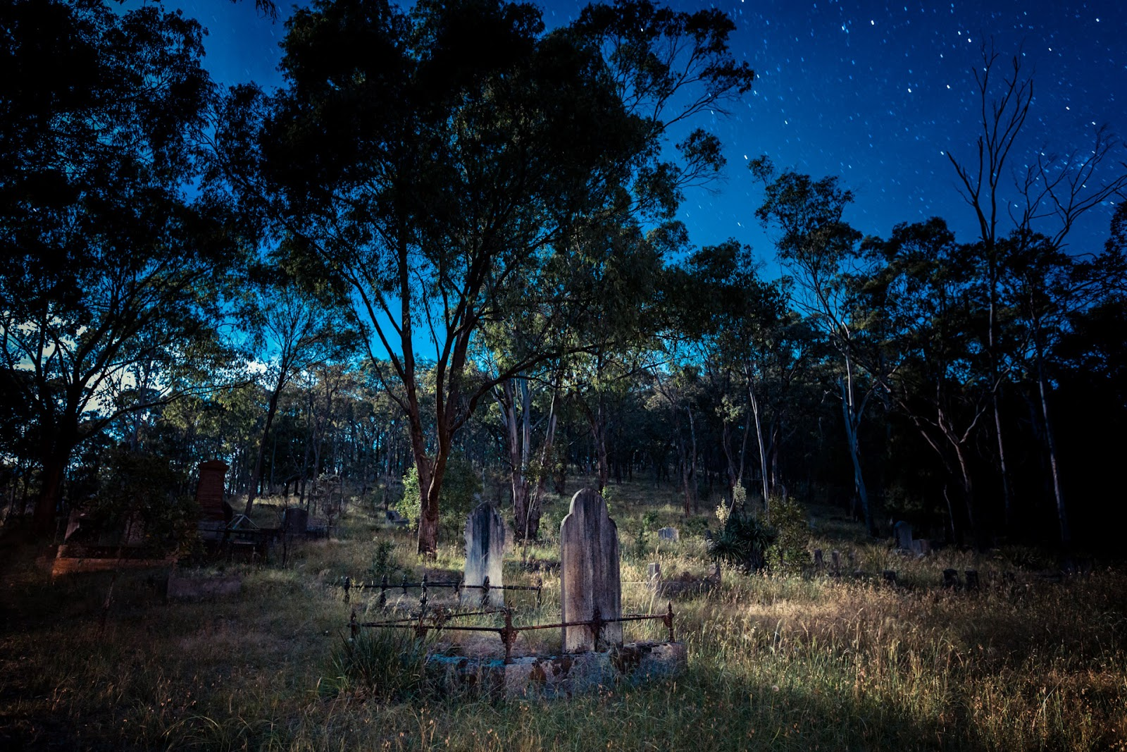 queenstown cemetery smiths gully moonlight