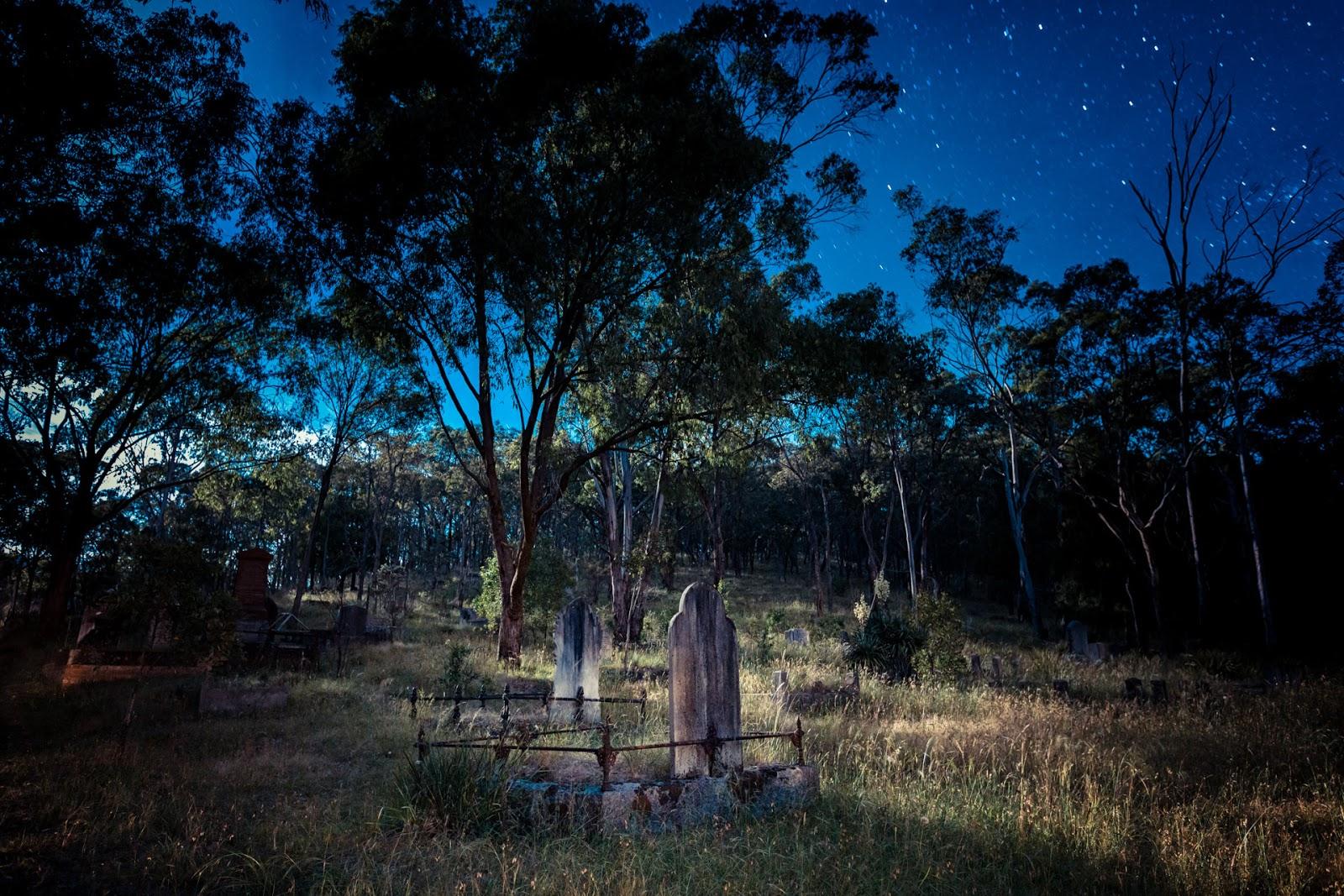 queenstown cemetery smiths gully moonlight