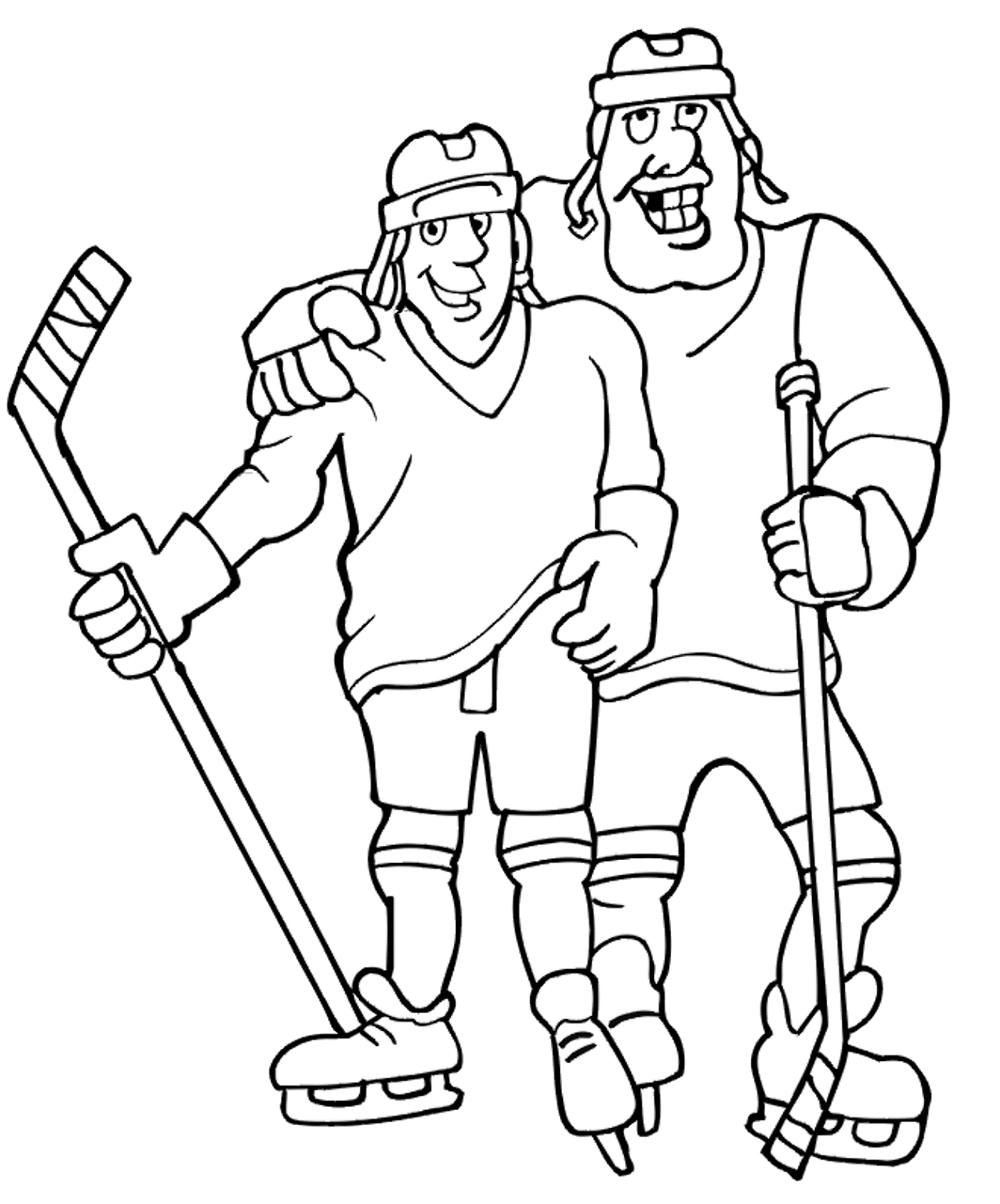 types of sports coloring pages for kids
