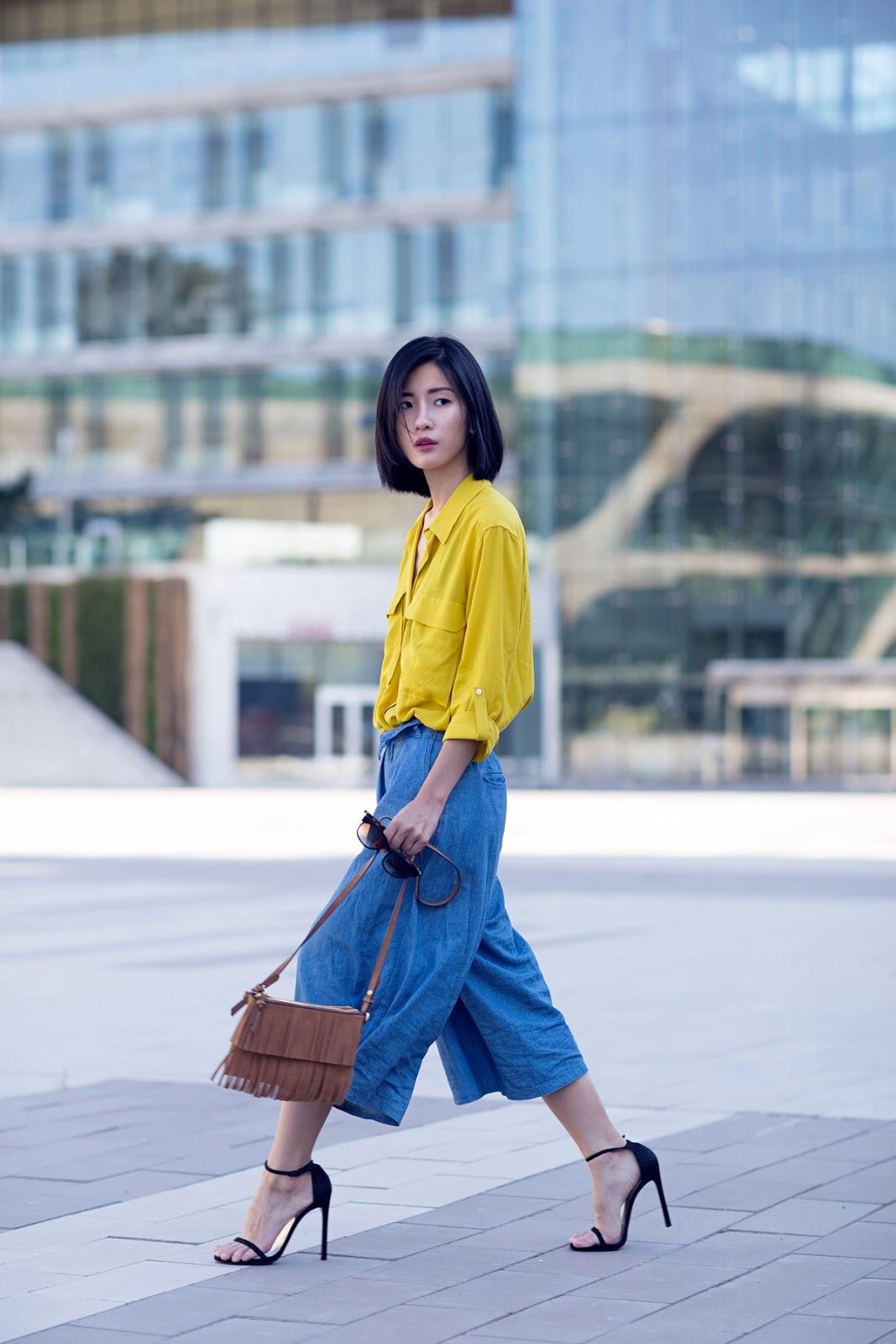 von vogue zara yellow shirt