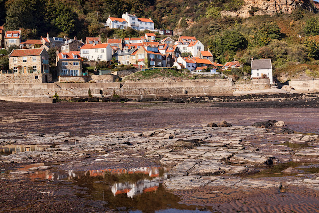 North Yorkshire village of Runswick Bay in the sunlight by Martyn Ferry Photography