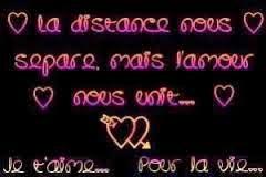 Texte d'amour a distance