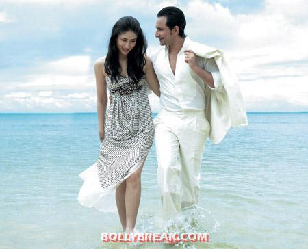Saif and kareena on beach -  Kareena Kapoor &amp; Saif Ali Khan&#39;s big proposal
