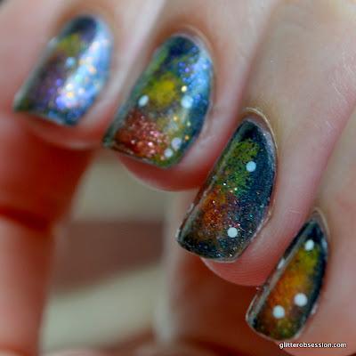 nail art, galaxy nail art, galaxy nails, star nails, star nail art