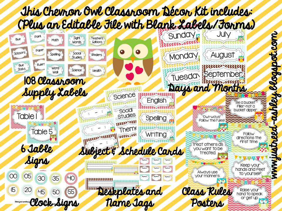 An Apple a Day Linky Party Classroom Decor Just Reed