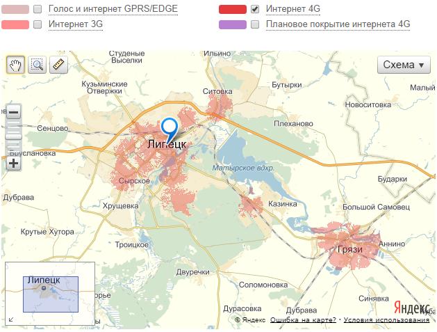 В Липецке сеть LTE в декабре